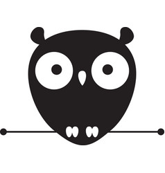 Cute owl logo vector