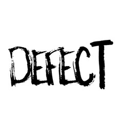Defect stamp on white vector