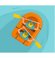 Double rafting background flat style vector