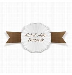 Eid al-Adha realistic paper Label vector