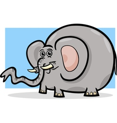 elephant wild animal cartoon vector image