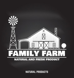 family farm badges or labels vector image