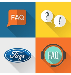 FAQ icons vector image