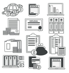 finance and accounting financial report vector image
