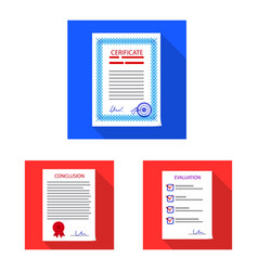 form and document sign vector image
