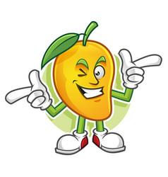 Funky mango character vector