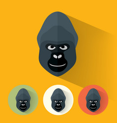 gorilla portrait with flat design vector image