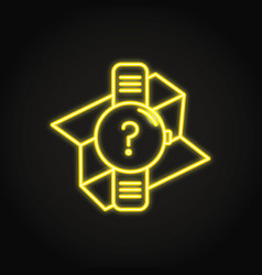 gps watch icon in neon line style vector image