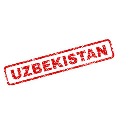 Grunge uzbekistan rounded rectangle stamp vector