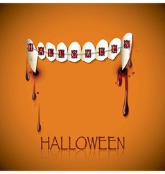 Halloween Festival Bite And Blood Background vector