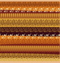hand-drawn abstract pattern in african style vector image