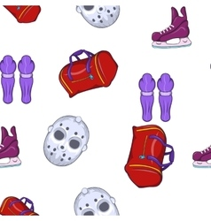 Hockey pattern cartoon style vector image
