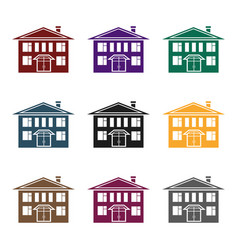 house icon in black style isolated on white vector image