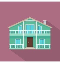 House Icon with Shadow in Flat Design vector image