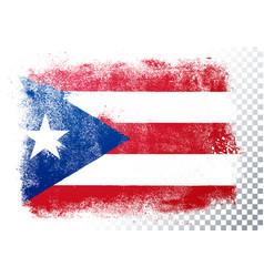 isolated flag puerto rico in grunge style vector image