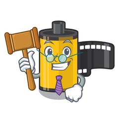 Judge camera roll in cartoon drawer vector