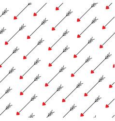 Love arrows seamless pattern vector
