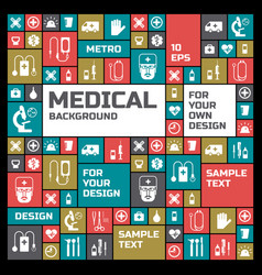 Medical design background vector