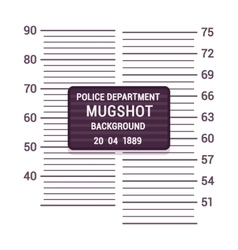 Mugshot background template vector