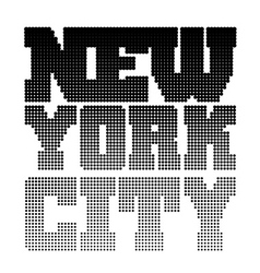 New York t shirt pixel vector