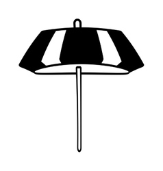 Outline umbrella parasol sketch beach vector