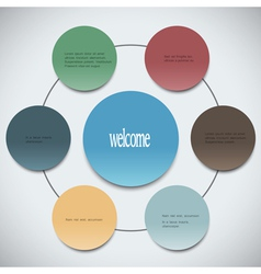 Paper circles can be used for web design and vector image vector image