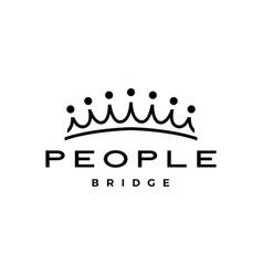 people bridge crown group seven 7 community vector image