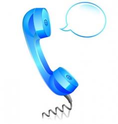 Phone blue vector