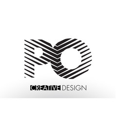 po p o lines letter design with creative elegant vector image