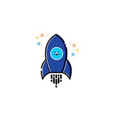 rocket mbe style logo vector image