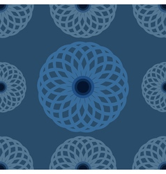 Seamless pattern Blue floral design and background vector image