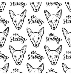 Seamless pattern with dogs wrapping paper or vector