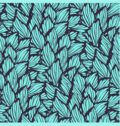 seamless pattern with leaves made in graphic style vector image