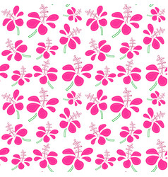 seamless pattern with tropical flowers background vector image