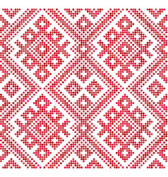 seamless traditional russian and slavic vector image