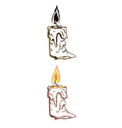 Simple linear candle vector