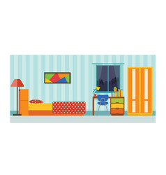 small house bedroom interior vector image