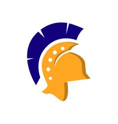 spartan logo design symbol warrior helmet icon vector image
