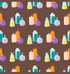 special magic seamless pattern magician fantasy vector image