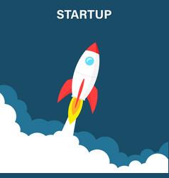 startup business concept rocket or rocketship vector image