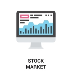 Stock market icon concept vector