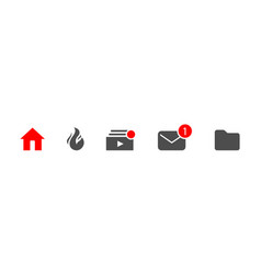 Template icons for your design incoming library vector