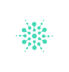 turquoise abstract round shape from circles vector image