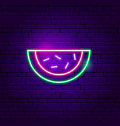Watermelon neon sign vector