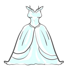 wedding dress on white background vector image