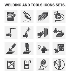 welding icon vector image