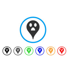 Wonder smiley map marker rounded icon vector