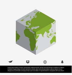 worldmap and cube vector image