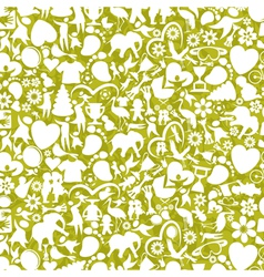 Baby a background vector image vector image