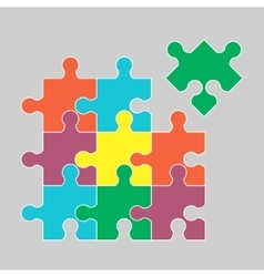 Parts of multicolor puzzles vector image vector image